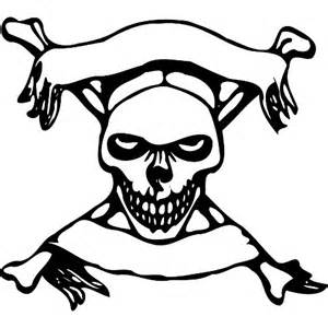And Crossbones Colouring Pages sketch template
