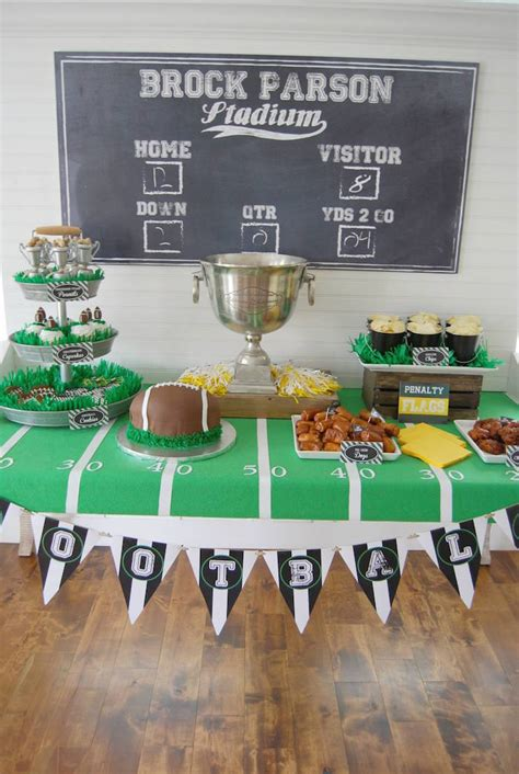 Book Theme Baby Shower by Kara S Party Ideas Football Frenzy Themed Birthday Party