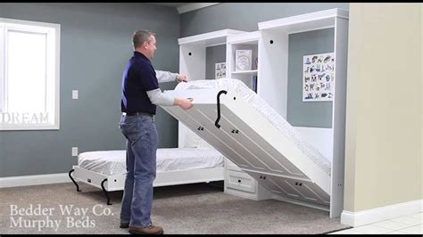 do 2 twin beds make a queen or bedder way twin murphy bed operation exle youtube