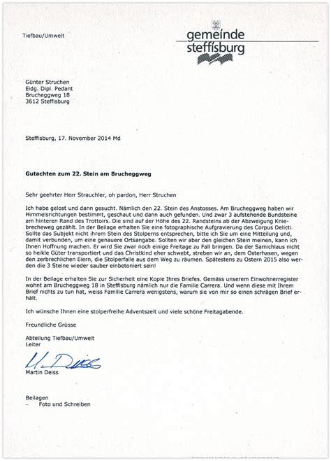 Schweiz Brief Beilagen G 252 Nter Struchen Brief An Die Gemeinde Steffisburg
