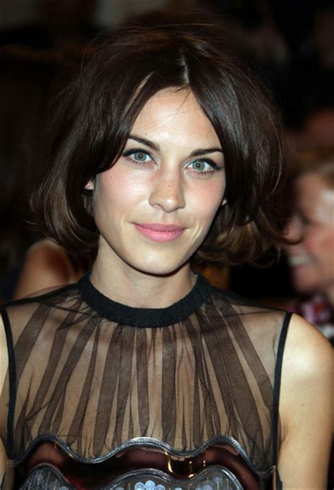 bob haircuts with center part bangs alexa chung bob short hairstyles lookbook stylebistro