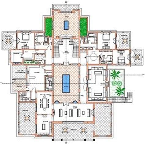 moroccan riad floor plan plan of villa ground floor oasis bab atlas marrakech