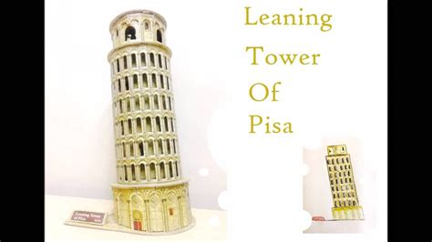 How To Make 3d Models Out Of Paper - papercraft the leaning tower of pisa how to make paper