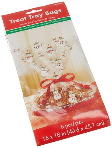 Cello Giveaway - snowman cookie tray cello bag christmas party favour giveaway 6 sets clear 18 quot x