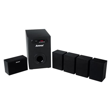 Home Theater J And E home theater amvox amt 900 5 1 canais c subwoofer r 225 dio