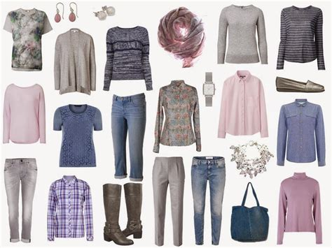 Travel Wardrobe Planner by The Vivienne Files A Four By Four Wardrobe In Denim Grey