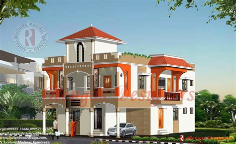 Indian House Design Three Floor Buildings Designs Building Plans Online 45698