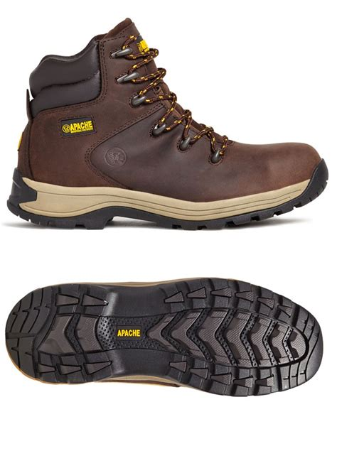Kickers Safety Boots Buck Brown apache nu buck safety hiker workboots brown
