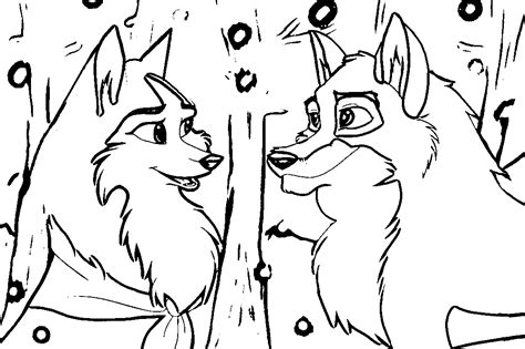 fox balto 2 coloring coloring pages