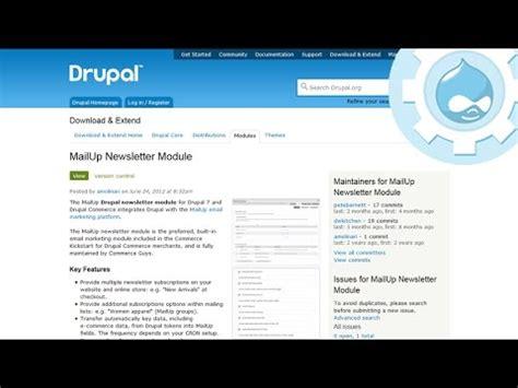 drupal newsletter module mailup demo youtube