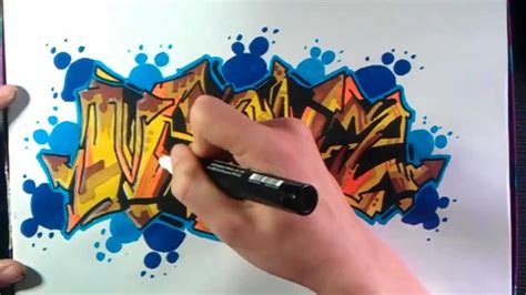 graffiti marker wallpaper how to draw graffiti brown and blue on paper youtube