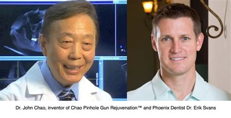 Dr John Chao Showing New Receding Gums Treatment On