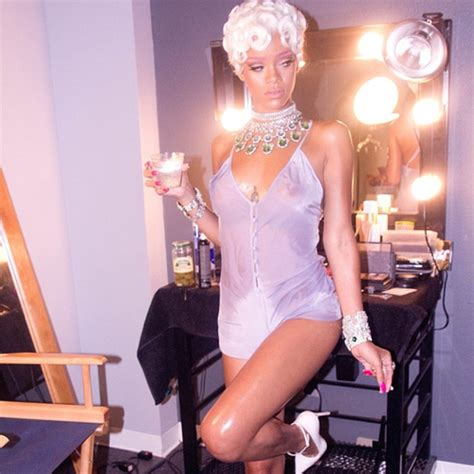 rihanna flaunts bare butt on instagramsee the pic e online rihanna poses in sexy lingerie in new pictures from pour