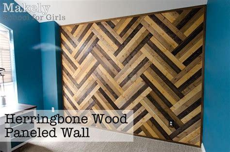 pallet pattern in spanish diy herringbone wood paneled wall wood panel walls