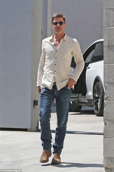 brad pitt jeans commercial japan brad pitt cuts a gaunt figure as he steps out in la