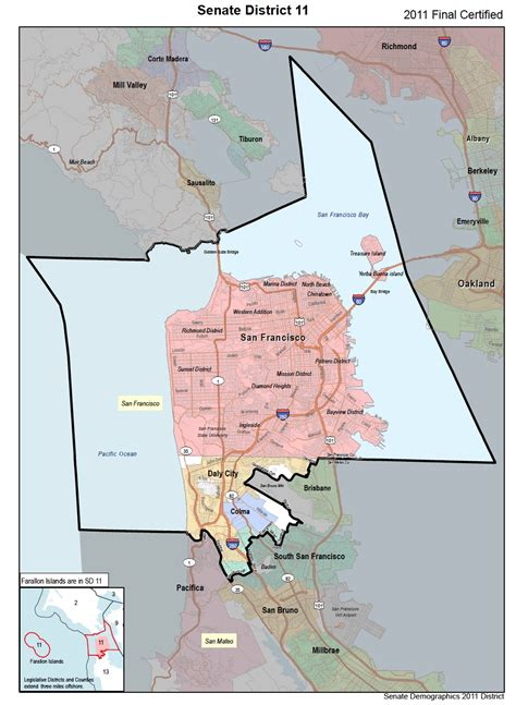 california assembly district map ca state senate district 11 san francisco san mateo co