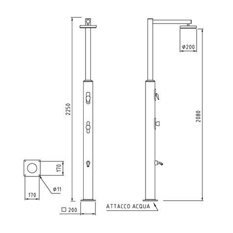 altezza miscelatore doccia doccia da esterno per piscina plutone in acciaio