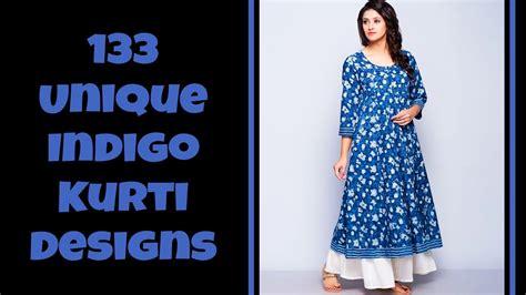kurti pattern making 133 unique indigo kurti designs youtube