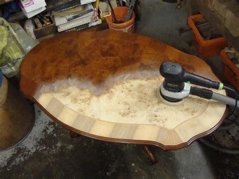 tisch lackieren wurzelholz tischlerei holzwerkstatt helmeke tischler