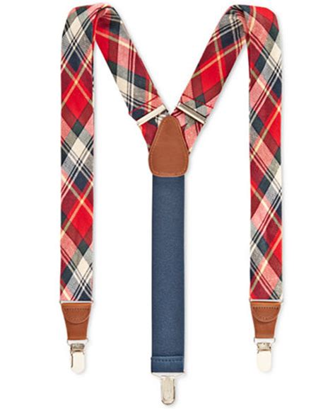 club room macy s club room s plaid suspenders only at macy s accessories wallets macy s