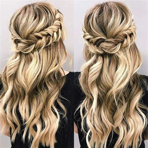 homecoming hairstyles down with braids 21 beautiful hair style ideas for prom night fishtail