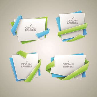 Creative Origami - creative origami banner vector graphics free vector in