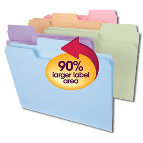 smead label templates supertab 174 folders now a 90 larger label area