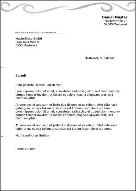 Kostenlose Briefvorlage kostenlose word briefkopf vorlagen herunterladen