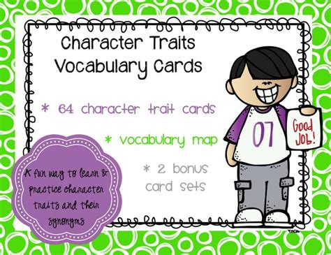 Character Trading Cards Template 3rd Grade by 140 Best Images About Character Traits On