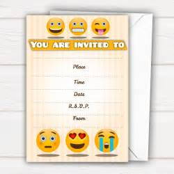pack of 20 emoji party invites all ways design