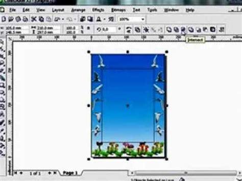 Bingkai Foto Frame 2 Sisi membuat frame bingkai foto dengan coreldraw