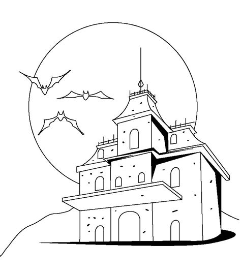 printable haunted house outline haunted house outline coloring home