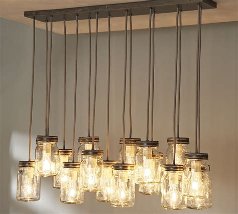 Jar Kitchen Lighting 18 Diy Jar Chandelier Ideas Guide Patterns