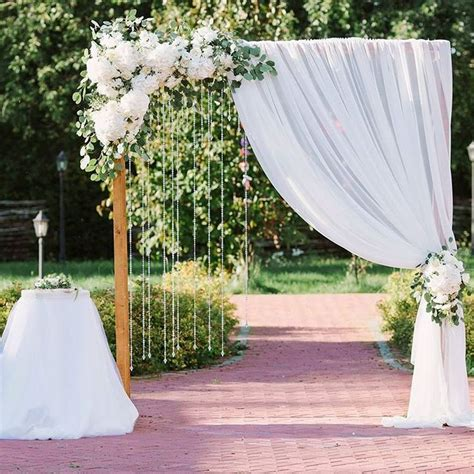 Wedding Backdrop Ceremony by Best 25 Curtain Backdrop Wedding Ideas On