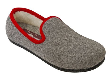 Slippers Handmade - handmade tyrolean slippers heidi model grey with