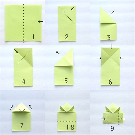 How To Make An Easy Origami Frog - origami jumping frogs easy folding it s
