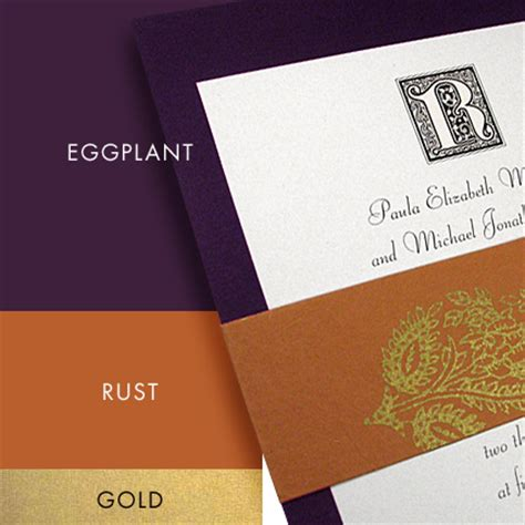 what color goes with rust best 25 eggplant wedding colors ideas on
