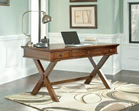 Wood Home Office Desks Buy Burkesville Home Office Desk By Signature Design From Www Mmfurniture Sku H565 45