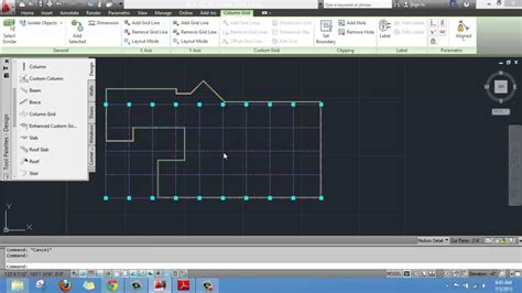 autocad layout add creating a layout grid on autocad architecture youtube