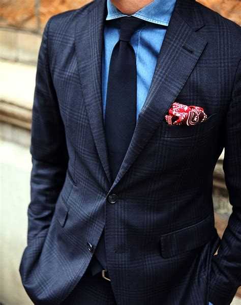 blue pattern men s suit men s dark blue suit with subtle blanket plaid pattern