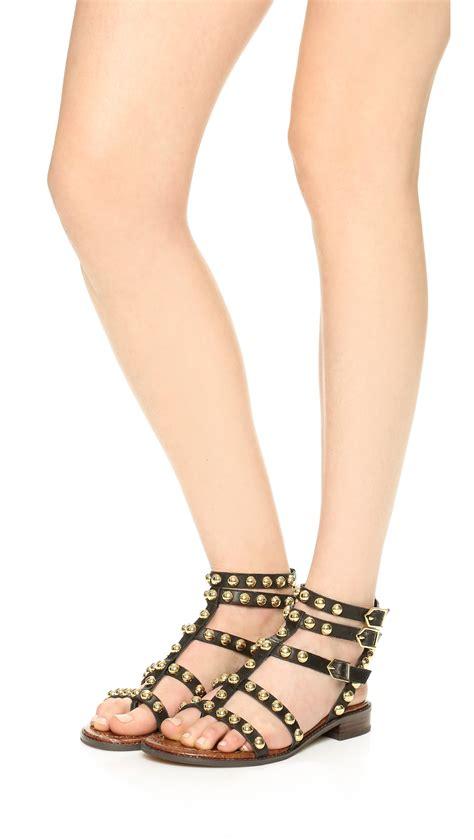 sam edelman black sandals sam edelman eavan gladiator sandals in black lyst