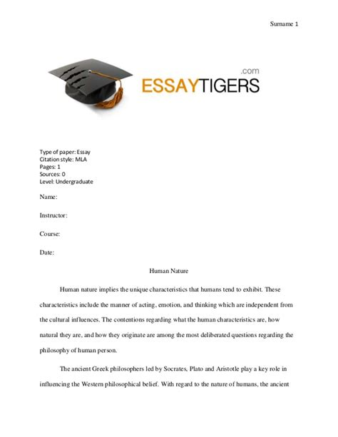 Human Nature Essay Title by Essay On Human Nature