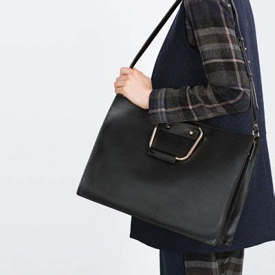tote with metallic handle key pieces 3 trf editorials zara united states bag it