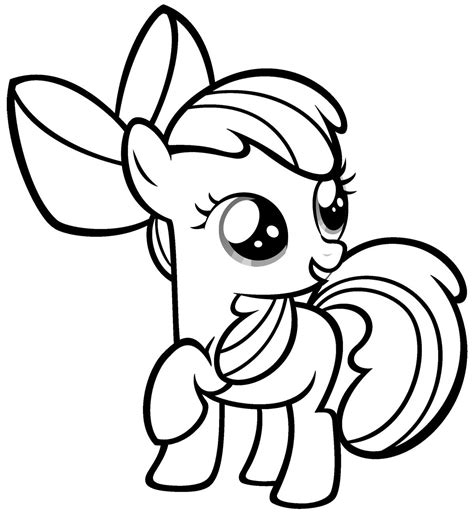 easy pony coloring pages free printable my little pony coloring pages for kids