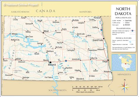 nd map reference map of dakota usa nations project