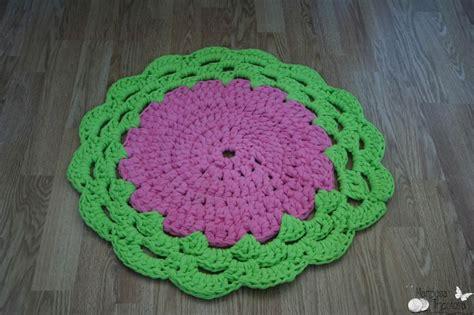 tutorial alfombra ganchillo xl alfombra de trapillo con remate de encaje de ganchillo en