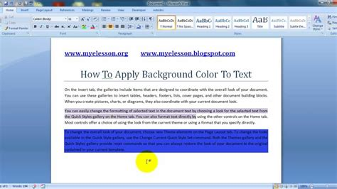 word background color ms word apply background color to text