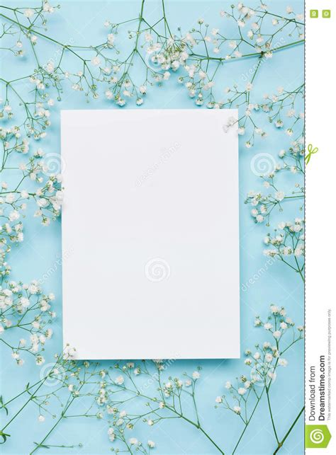Wedding Background List by Wedding Mockup With White Paper List And Flowers