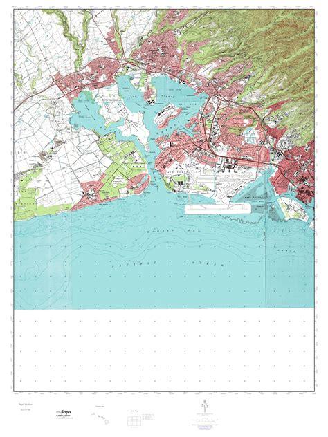 mytopo pearl harbor hawaii usgs topo map