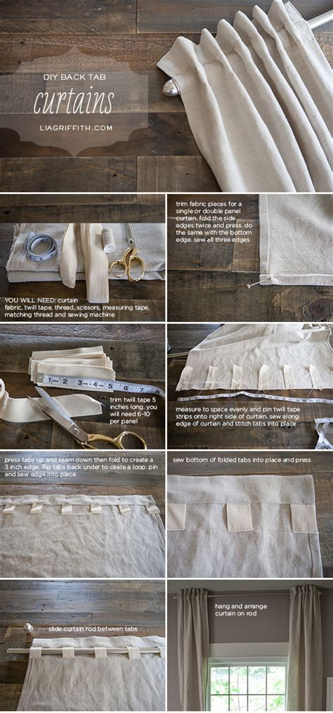 back tab curtains instructions diy back tab curtains